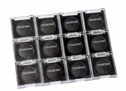 12 x Collection Work the Colour Solo Eyeshadow | Black | RRP £40